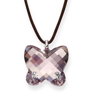 Swarovski butterfly 🦋 light purple necklace